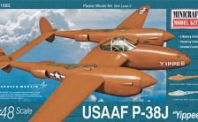 "1/48 WW.II アメリカ陸軍航空軍 P-38J ""YIPPEE"" プラモデル"