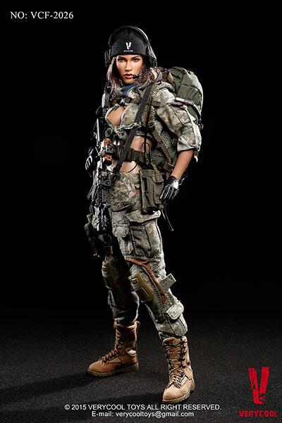 アメリカ陸軍 女性狙撃兵 ACU迷彩服 1/6 アクションフィギュア