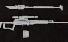 M.S.G モデリングサポートグッズ ウェポンユニット MW09R 薙刀・スナイパーライフル