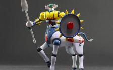 ダイナマイトアクションS!メタル・アクション 『鋼鉄ジーグ』 鋼鉄ジーグ&パーンサロイド 可動フィギュア