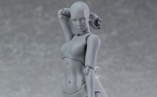 figma archetype next:she gray color ver. ノンスケール 可動フィギュア