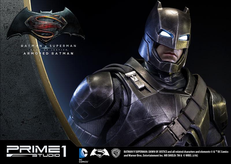 HDミュージアムマスターライン 『バットマン vs スーパーマン ジャスティスの誕生』 アーマード・バットマン 1/2 ポリストーン スタチュー