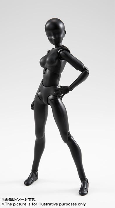S.H.フィギュアーツ ボディちゃん(Solid black Color Ver.) 可動フィギュア