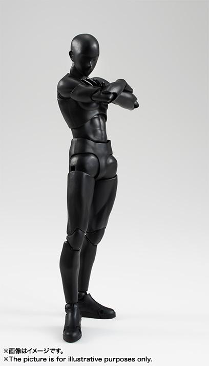 S.H.フィギュアーツ ボディくん(Solid black Color Ver.) 可動フィギュア