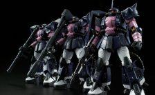 RG 『機動戦士ガンダム(MSV)』 1/144 MS-06R-1A 黒い三連星専用ザクII プラモデル (再販)
