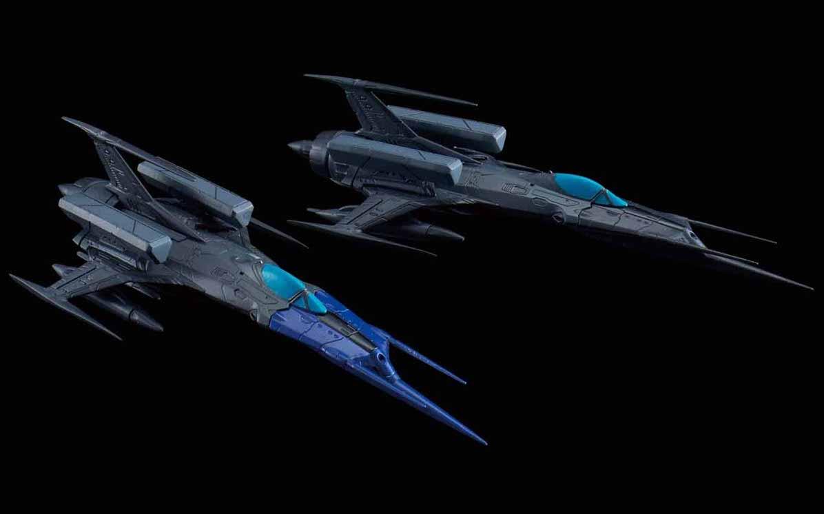メカコレクション 『宇宙戦艦ヤマト2202 愛の戦士たち』 零式52型改 自律無人戦闘機 ブラックバード セット プラモデル